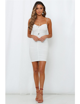 Brought The Flames Dress White by Hello Molly