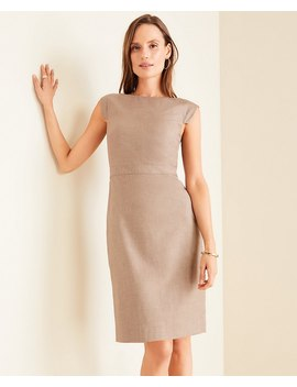 The Petite Boatneck Dress In Melange by Ann Taylor