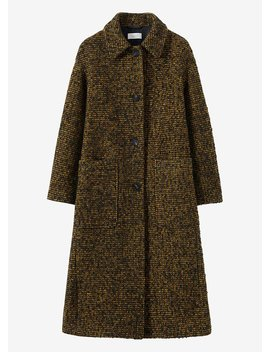 Textured Tweed Coat by Toast