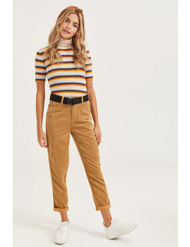 Belted Corduroy Pants by Ardene