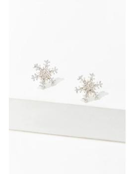 Snowflake Stud Earrings by Forever 21