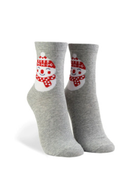 Snowman Graphic Crew Socks by Forever 21
