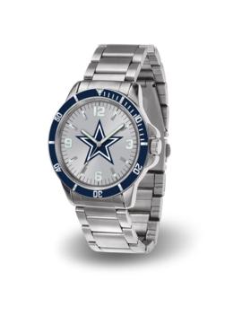 Men's Dallas Cowboys Sparo Silver Key Bracelet Quartz Watch by Nfl