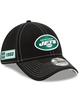 New York Jets New Era 2019 Nfl Sideline Road Official 39 Thirty Flex Hat   Black by New Era