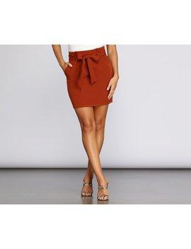 Modern Mini Tie Waist Skirt by Windsor
