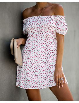 Sadie Off The Shoulder Floral Mini Dress   Final Sale by Vici