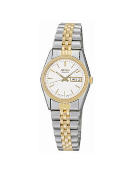 Seiko® Women's Stainless Steel Two Tone Watch Swz054 by Seiko