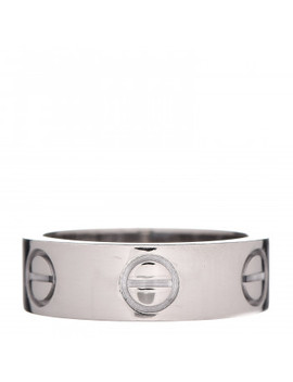 Cartier 18 K White Gold 5.5mm Love Ring 47 4 by Cartier