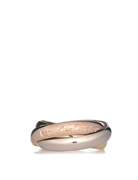 Cartier 18 K Pink Yellow White Gold Classic Les Must De Cartier Trinity Ring 50 5.25 by Cartier