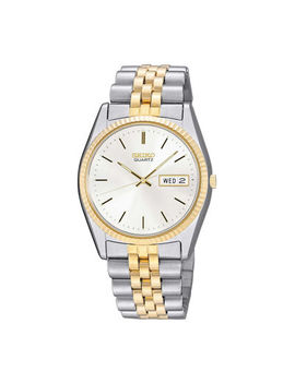 Seiko® Mens Two Tone Stainless Steel Dress Watch Sgf204 by Seiko