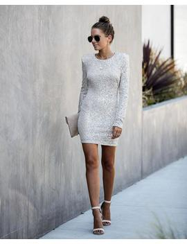 Party Tonight Long Sleeve Sequin Bodycon Dress by Vici