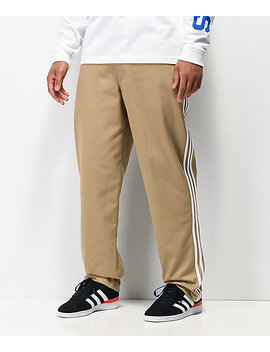 Adidas 3 Stripe Beige Chino Pants by Adidas