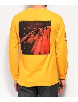 Bobby Tarantino By Logic Peace, Love &Amp; Positivity Yellow Long Sleeve T Shirt by Bobby Tarantino By Logic