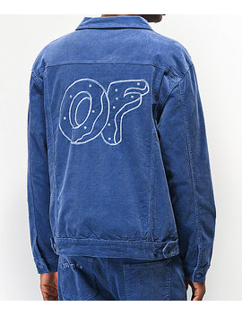 Odd Future Light Blue Corduroy Trucker Jacket by Odd Future