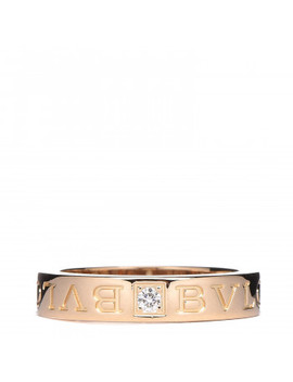 Bulgari 18 K Yellow Gold Diamond Bvlgari Bvlgari Band Ring 50 5.5 by Bulgari