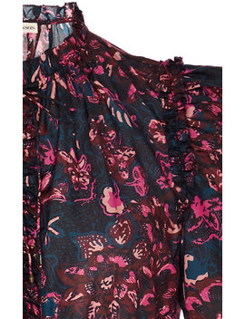 Prissa Floral Print Cotton Blend Mini Dress by Ulla Johnson