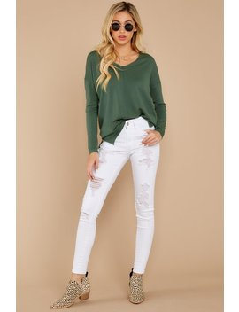 Give It A Rest Moss Green Sweater by So Soft Collection