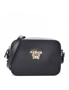 Versace Calfskin Palazzo Camera Bag Black by Versace