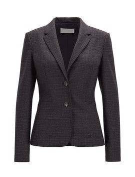 Slim Fit Jacket In Super Stretch Italian Virgin Wool Slim Fit Jacket In Super Stretch Italian Virgin Wool by Boss