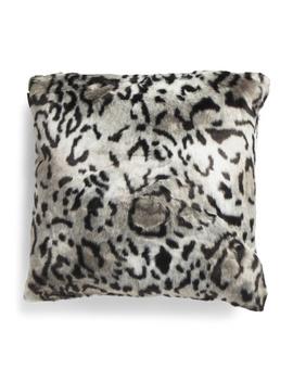 24x24 Oversized Animal Faux Fur Pillow by Tj Maxx