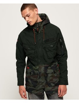 Rookie Panther Elevated Parka Jacket by Superdry