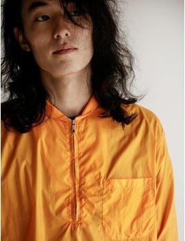 Tech Shawl Zip Shirt Orange Nylon by Our Legacy