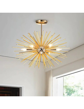 Lorena Sputnik Chrome And Champaign Gold Industrial Chandelier by The Lighting Store