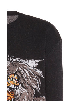 Pegasus Wool Crewneck Sweater by Givenchy