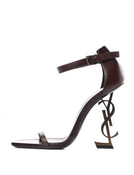 saint-laurent-calfskin-opyum-sandals-38-brown by yves-saint-laurent