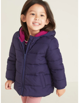 Frost Free Hooded Puffer Jacket For Toddler Girls by Old Navy