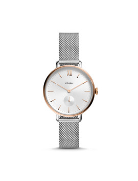 Kalya Three Hand Two Tone Stainless Steel Watch by Fossil