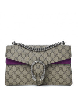Gucci Gg Supreme Monogram Small Dionysus Shoulder Bag Purple by Gucci