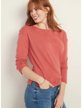 Loose French Terry Top For Women by Old Navy