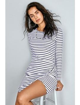 Striped Irregular Hem Mini Dress by Cupshe