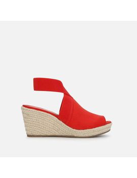 Carrie Ankle Strap Espadrille Wedge by Kenneth Cole