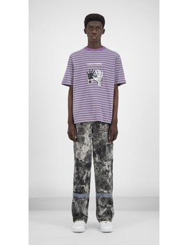 Grape Striped Gorstrush T Shirt by Daily Paper