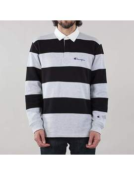 Champion Reverse Weave Long Sleeve Polo Shirt by Urban Industry