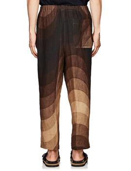 Wave Print Linen Pants by Dries Van Noten