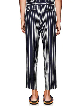 Striped Twill Straight Trousers by Dries Van Noten