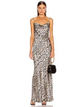 Arianne Bias Maxi Slip Dress by L'agence