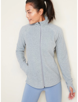 Micro Performance Fleece Zip Pullover For Women by Old Navy
