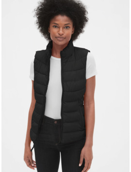 coldcontrol-upcycled-lightweight-puffer-vest by gap