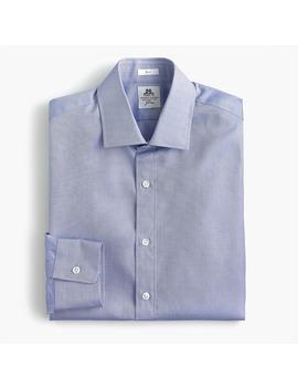 Thomas Mason® For J.Crew Slim Fit Two Ply Dress Shirt In Royal Oxford Cotton by Thomas Mason
