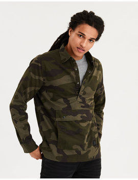Ae Chino Camo Pullover Shirt by American Eagle Outfitters