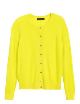 Washable Merino Cardigan Sweater by Banana Repbulic