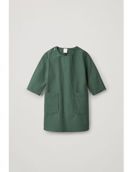 Dress With Button Up Shoulders by Cos