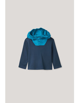 Jersey Top With Woven Hood by Cos