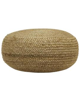 Pouf Natural Woven Ottoman by Decor Therapy