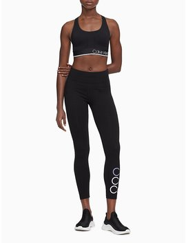 Performance Logo Racerback Sports Bra by Calvin Klein