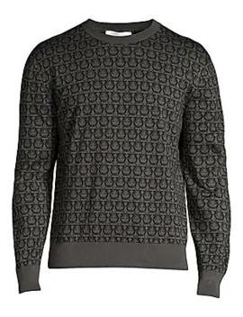 Gancini Crewneck Sweater by Salvatore Ferragamo